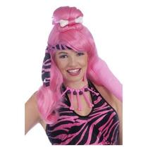 Peluca Rosa Picapiedra, Cavernicola Para Damas, Envio Gratis