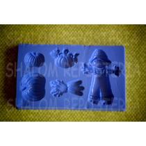 *mini Molde Tipo Silicon Halloween Modelo 3 Cupcake Fondant*