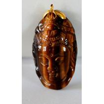 Dije Buda-tallado En Piedra Ojo De Tigre- Flete Gratis