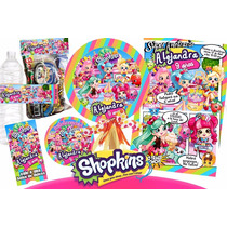 Kit Imprimible Shopkins Personalizado - Invitaciones -