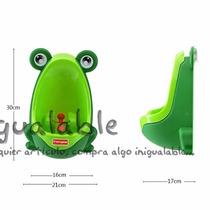Urinario De Pared Para Niño Color Verde De Rana