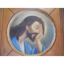 Jesus De Nazaret Antiguo Oleo Sobre Tela