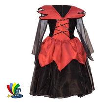 Disfraz Vampira Niña Halloween Talla 6