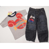 Conjunto Pantalon Y Playera Mickey Mouse Disney 2 Años