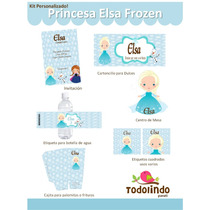 Kit Imprimible Cute Elsa Frozen Personalizado Olaf