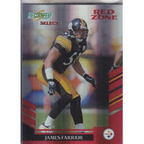 2007 Score Select Red Zone James Farrior Lb Steelers /30