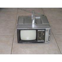 Tv Portatil Vintage Blanco Y Negro 5 Pulg Sin Audio