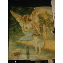Ilustración Antigua De Un Angel De La Guarda (1960´s)