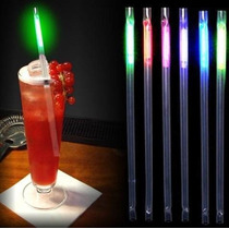 Popote Luminoso Glow Cyalume Paquete C/6 Super Luminosos
