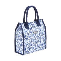 El Almuerzo Bolsa - Coolmovers Flor Picnic Azul Estilo Mano