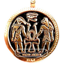 Dije Pentagrama Con Simbología Egipcia.