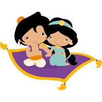 Kit Imprimible Princesa Jasmine Aladdin Baby Tarjetas #1