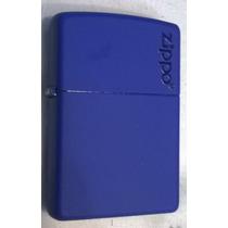 Encendedor Zippo Blue Royal C/logo Azul Rey Nuevo Original!!