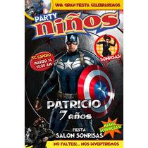 Invitaciones Infantiles Comic O Portada De Revista Imprime