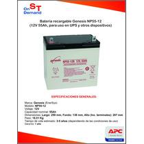 Bateria Recargable Genesis Np55 12v 55ah (nueva) Hm4
