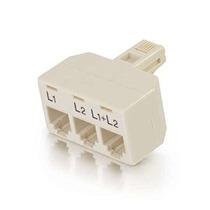 C2g / Cables To Go 41,062 Dos Líneas Teléfono Splitter L1 +