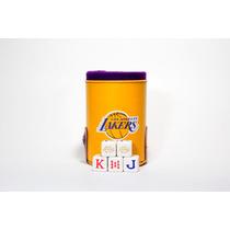 Cubilete De Los Lakers Con Portadados, Dados Grabados En As