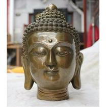 Cabeza De Buda En Bronce/zen/yoga/meditar/decora/feng/tibet