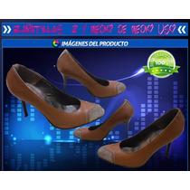 Zapatillas Cafe 22 1/5 De Medio Uso Baratas Tacones De 9cm