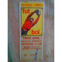 Boletos De Futbol Estadio Azteca 1966-68-73-74-