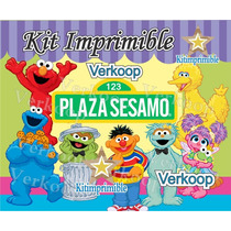 Kit Imprimible Plaza Sesamo + Candy Bar Invitaciones Fiesta