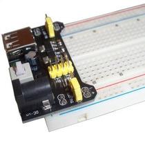 Kit Protoboard,modulo Energía (fuente) Y Cables Jumpers 65pc