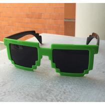 Lentes Pixeleados Pixeles Minecraft Verdes