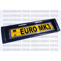Porta Placa Trasero Tipo Euro Plástico Golf Y Jetta A3 Mk3
