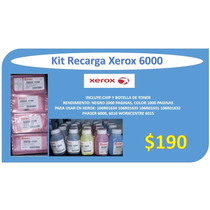 Kit Recarga Xerox Phaser 6000 6010 Wc 6015 + Chip