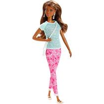 Barbie Fashionistas Doll Pantalones Patrón Y Camiseta Del Tr