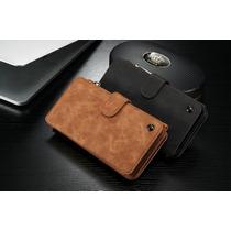Cartera 2en1 Carcasa Piel Galaxy Note 5 Celular Billetera