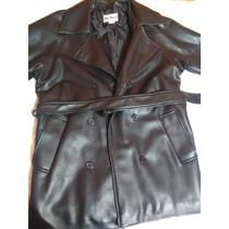 Abrigo Impermeable Elegante Negro Casual
