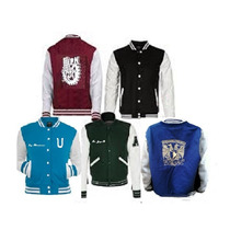 Chamarra Universitaria Bordada Jacket College