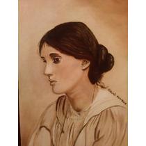 Pintura Al Óleo Retrato De Virginia Woolf