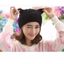Envío Gratis!! Gorro Crochet Orejas De Gato (unitalla).