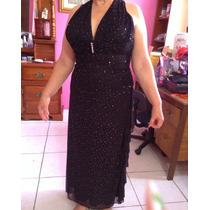 Vestido Negro Blondie Nites Talla Grande (l) Envio Gratis