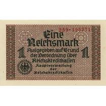 Grr-billete Alemania Nazi 1 Reichsmark 1939-1945