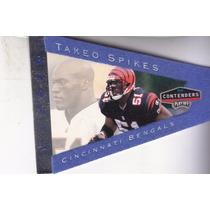 1998 Contenders Pennants Rookie Blue Felt Takeo Spikes