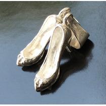 Dije De Zapatilla Tacón Ballet Danza Bailarina En Plata .925