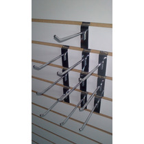 Gancho Blister Cromado Para Panel De 20,25cm Paquete 10 Pzas
