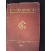 Manual Para Constructores - Edición 1950
