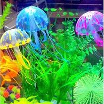 Medusa Fluorescente Brilla Con Luz Uv