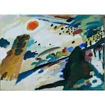 Lienzo Tela Paisaje Wassily Kandinsky Arte Abstracto 50 X 69