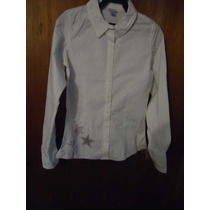Blusa Niña Talla 14 Color Blanco Nueva Con Etiquetas, Barata