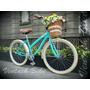 Bicicleta Retro Vintage R26 Mujer Menta - Crema