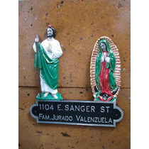 Placa Domiciliaria San Judas Con Virgen De Guadalupe