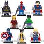 Set 8 Figuras Superheroes Compatible Lego Spiderman Batman