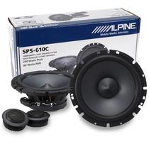 Set D Medios Alpine Sps-610c Bocinas 6.5 Tweeter 2 Vias 240w