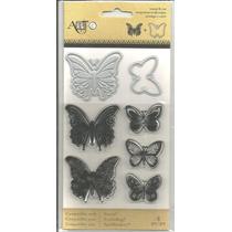 Scrapbook Sizzix Sellos Con Suajes De Mariposas Cuttlebug