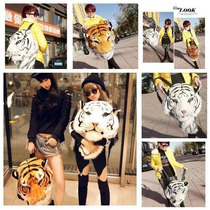 Mochila Cabeza De Tigre Moda Japonesa Kawaii Pastel Goth